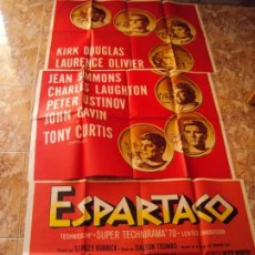 Cine: (CINE-182)ESPARTACO - POSTER 3 PIEZAS - ORIGINAL - KIRK DOUGLAS JEAN SIMMONS STANLEY KUBRICK. Lote 213334526