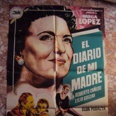 Cine: (CINE-176)POSTER ORIGINAL EL DIARIO DE MI MADRE CEPICSA MARGA LOPEZ. Lote 213335546