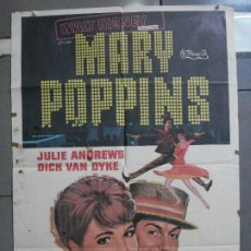 Cine: CDO 4841 MARY POPPINS JULIE ANDREWS WALT DISNEY POSTER ORIGINAL 70X100 R-76. Lote 213343013