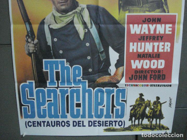 Cine: CDO 4842 CENTAUROS DEL DESIERTO the searchers JOHN WAYNE JOHN FORD POSTER ORIG 70X100 ESPAÑOL R90S - Foto 3 - 213343527