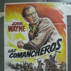 Cine: CDO 4846 LOS COMANCHEROS JOHN WAYNE POSTER ORIGINAL 70X100 R-80'S. Lote 213345095