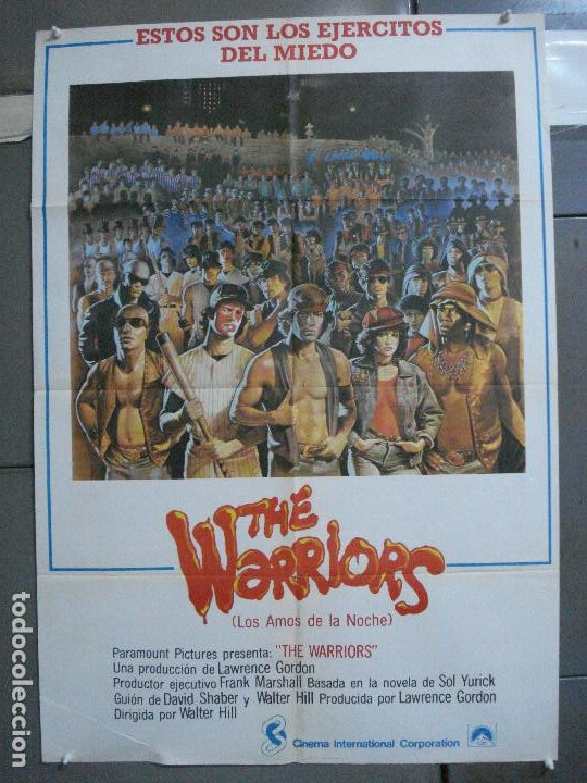 CDO 4851 THE WARRIORS WALTER HILL DAVID JARVIS POSTER ORIGINAL 70X100 ESTRENO (Cine - Posters y Carteles - Acción)