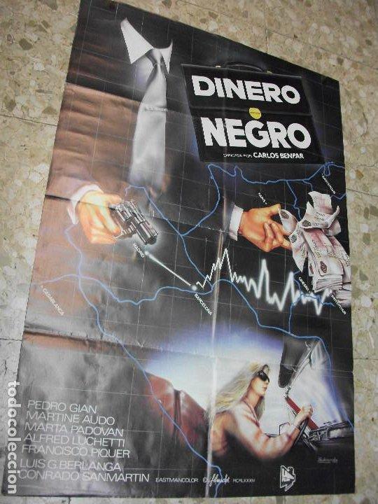 DINERO NEGRO 1984 PEDRO GUIAN MARTINE AUDO BERLANGA CARTEL DE CINE 100 X 70 CM. POSTER ESPAÑOLA (Cine - Posters y Carteles - Acción)