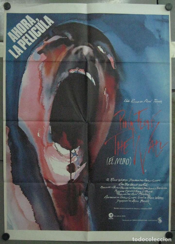 2VG67D EL MURO PINK FLOYD THE WALL ALAN PARKER POSTER ORIGINAL 70X100 ESTRENO (Cine - Posters y Carteles - Musicales)