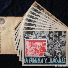 Cine: LA FAMILIA Y... UNO MAS -ALBERTO CLOSAS, JULIA GUTIÉRREZ CABA, JOSÉ LUIS LÓPEZ VÁZQUEZ - LOBBY CARDS. Lote 213386747
