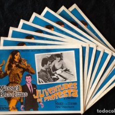 Cine: MASSIEL - JUVENTUDES DE PROTESTA - MICKY, BRUNO LOMAS - LOBBY CARDS. Lote 213387527