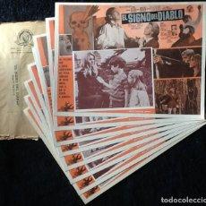 Cine: EL SIGNO DEL DIABLO - LOBBY CARDS. Lote 213388713