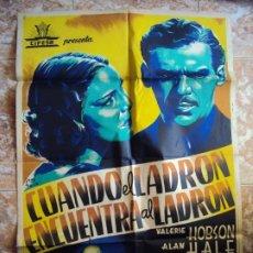 Cine: (CINE-283)CARTEL ORIGINAL CUANDO EL LADRON ENCUENTRA AL LADRON-VALERIE HOBSON. Lote 213449527