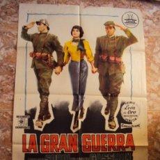 Cinéma: (CINE-287)POSTER ORIGINAL LA GRAN GUERRA - ALBERTO SORDI, VITTORIO GASSMAN. Lote 213449957