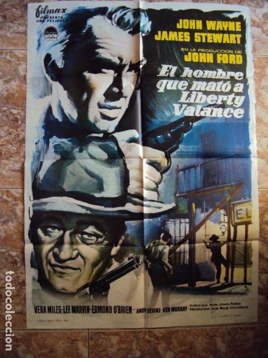(CINE-297)EL HOMBRE QUE MATO A LIBERTY VALANCE JOHN WAYNE FORD STEWART MCP POSTER ORIGINAL (Cine - Posters y Carteles - Westerns)