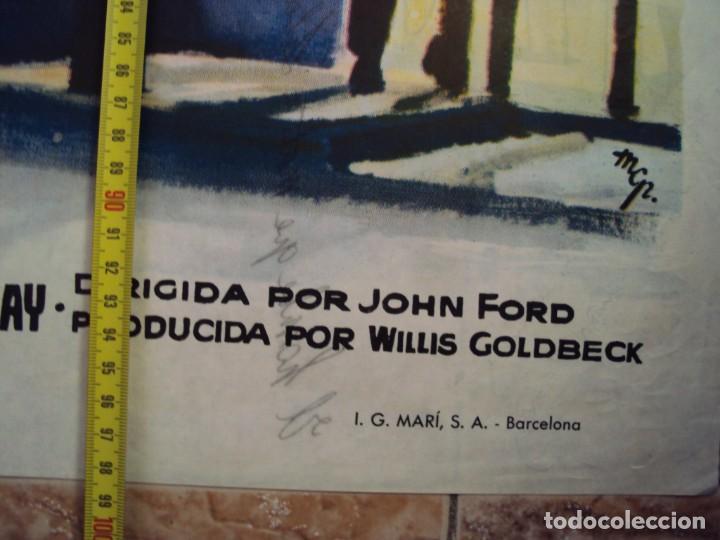 Cine: (CINE-297)EL HOMBRE QUE MATO A LIBERTY VALANCE JOHN WAYNE FORD STEWART MCP POSTER ORIGINAL - Foto 4 - 213450647
