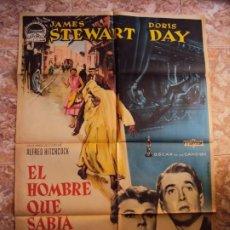 Cine: (CINE-300)EL HOMBRE QUE SABIA DEMASIADO ALFRED HITCHCOCK DORIS DAY ALBERICIO POSTER ORIG. Lote 213451268