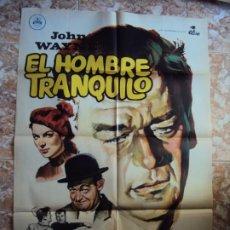 Cinema: (CINE-301)EL HOMBRE TRANQUILO JOHN WAYNE JOHN FORD POSTER ORIGINAL. Lote 213451341