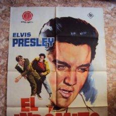 Cine: (CINE-314)EL INDOMITO ELVIS PRESLEY JANO POSTER ORIGINAL. Lote 213453366