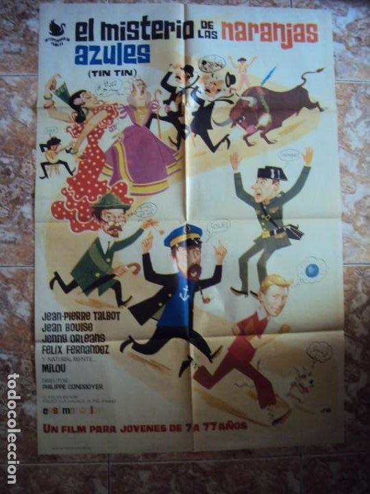 (CINE-341)POSTER ORIGINAL TINTIN Y EL MISTERIO DE LAS NARANJAS AZULES (Cine - Posters y Carteles - Infantil)