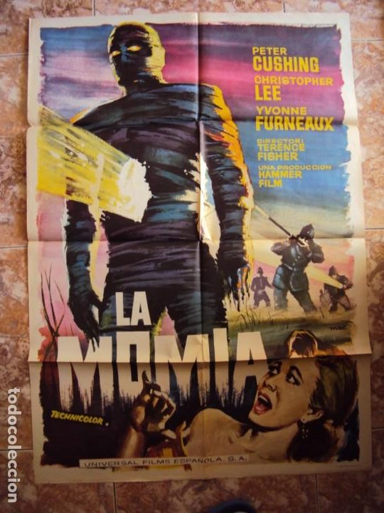 (CINE-347)LA MOMIA(THE MUMMY) - PETER CUSHING-CHRISTOPHER LEE- LOBBY CARD (Cine - Posters y Carteles - Terror)