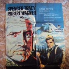 Cine: (CINE-350)LA MONTAÑA SINIESTRA SPENCER TRACY ROBERT WAGNER ALPINISMO CORBELLA POSTER ORIG ESTRENO. Lote 213481446