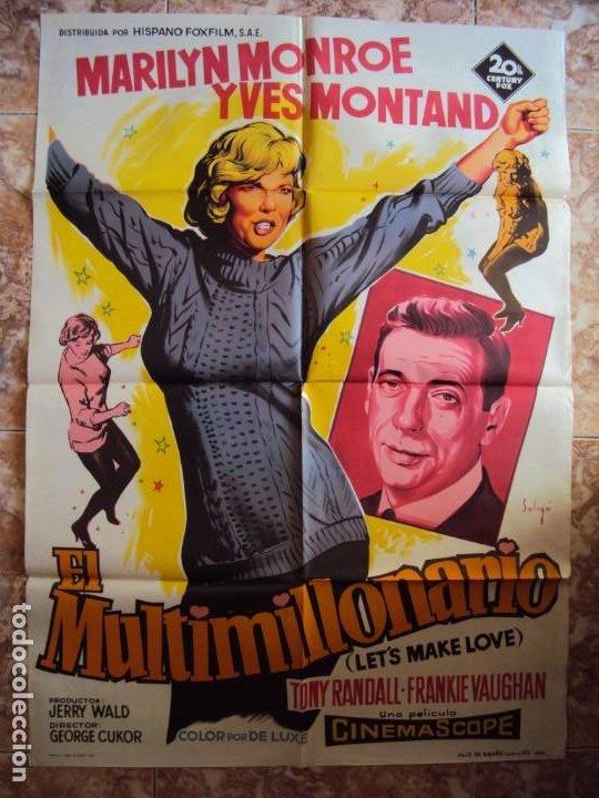(CINE-358)EL MULTIMILLONARIO MARILYN MONROE SOLIGO POSTER ORIGINAL (Cine - Posters y Carteles - Musicales)