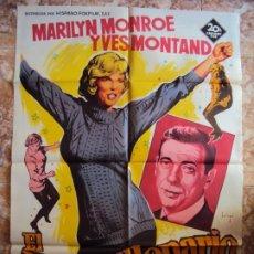 Cine: (CINE-358)EL MULTIMILLONARIO MARILYN MONROE SOLIGO POSTER ORIGINAL. Lote 213483081