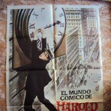 Cine: (CINE-359)EL MUNDO CÓMICO DE HAROLD LLOYD. CARTEL ORIGINAL 1962. Lote 213483290