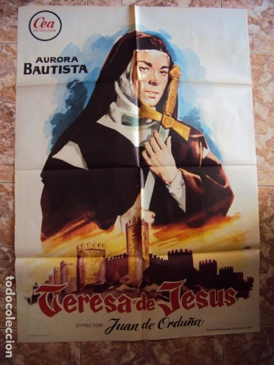 (CINE-375)TERESA DE JESUS AURORA BAUTISTA JUAN DE ORDUÑA POSTER ORIGINAL (Cine - Posters y Carteles - Clasico Español)