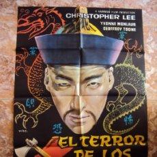 Cine: (CINE-378)POSTER ORIGINAL EL TERROR DE LOS TONGS ( CHRISTOPHER LEE ). Lote 213489740