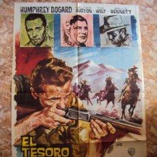 Cine: (CINE-380)EL TESORO DE SIERRA MADRE. JOHN HUSTON-HUMPHREY BOGART. CARTEL ORIGINAL 1964. Lote 213490260