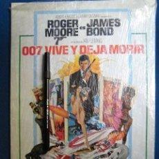Cine: CARTEL PEQUEÑO FORMATO JAMES BOND VIVE Y DEJA MORIR ESPAÑA 1973 BEATLES MCCARTNEY BANDA SONORA. Lote 213544477