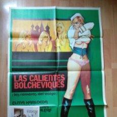 Cine: POS-3- POSTER Y 12 FOTOCROMOS DE LA PELICULA -..LAS CALIENTES BOLCHEVIQUES. Lote 213564136