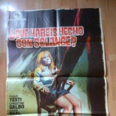 Cine: POSTER DE LA PELICULA--QUE HABEIS HECHO CON SOLANGE. Lote 51801753