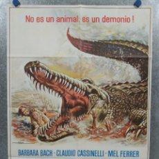 Cine: CAIMAN. BARBARA BACH, MEL FERRER. AÑO 1980. POSTER ORIGINAL. Lote 213642335