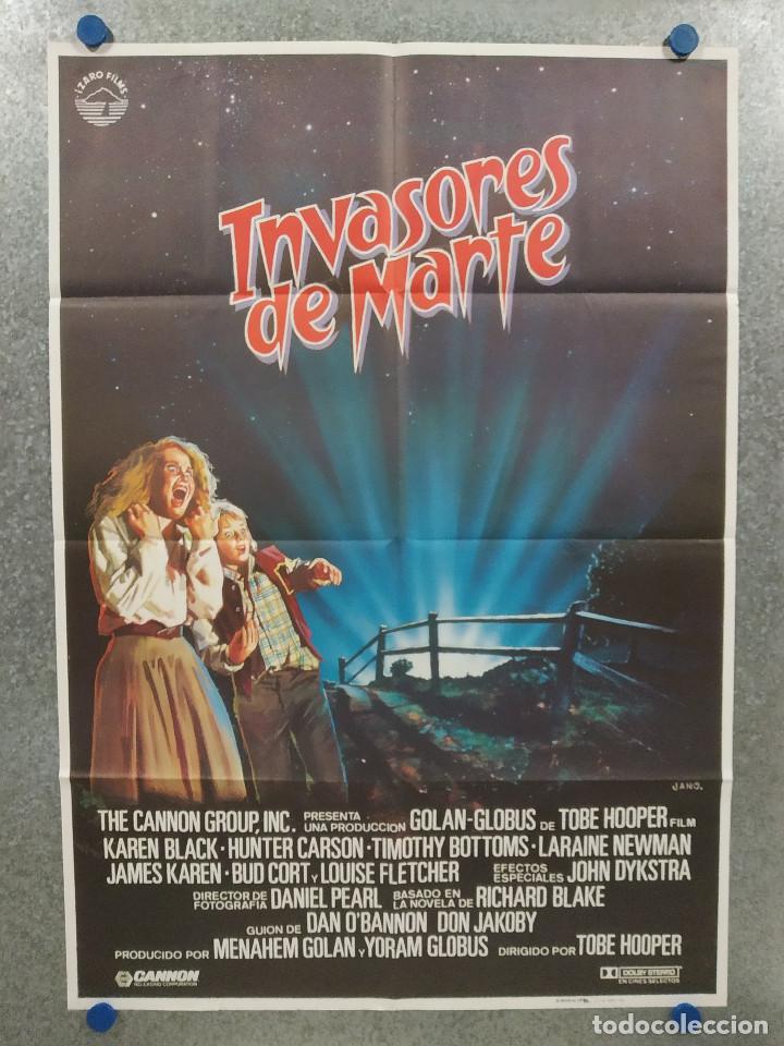 INVASORES DE MARTE. HUNTER CARSON, KAREN BLACK. AÑO 1986. POSTER ORIGINAL (Cine - Posters y Carteles - Terror)