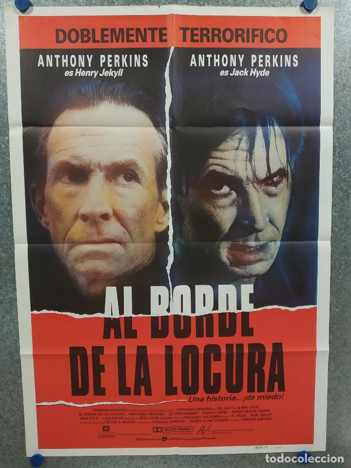 AL BORDE DE LA LOCURA. ANTHONY PERKINS, GLYNIS BARBER AÑO 1988. POSTER ORIGINAL (Cine - Posters y Carteles - Terror)