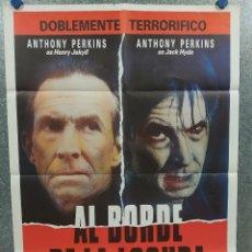 Cine: AL BORDE DE LA LOCURA. ANTHONY PERKINS, GLYNIS BARBER AÑO 1988. POSTER ORIGINAL. Lote 213643815
