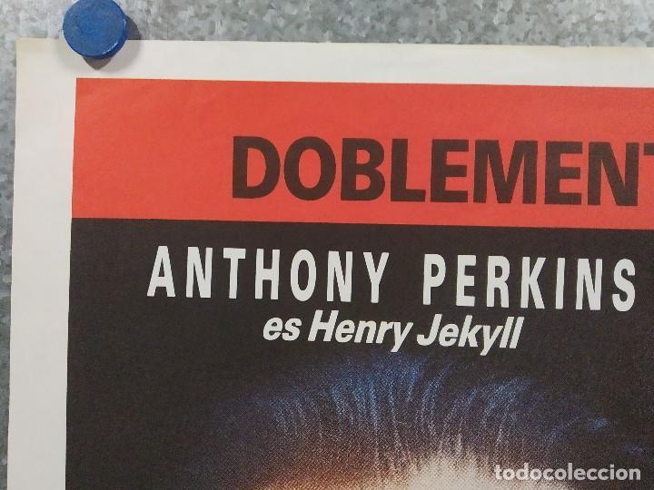 Cine: Al borde de la locura. Anthony Perkins, Glynis Barber AÑO 1988. POSTER ORIGINAL - Foto 2 - 213643815