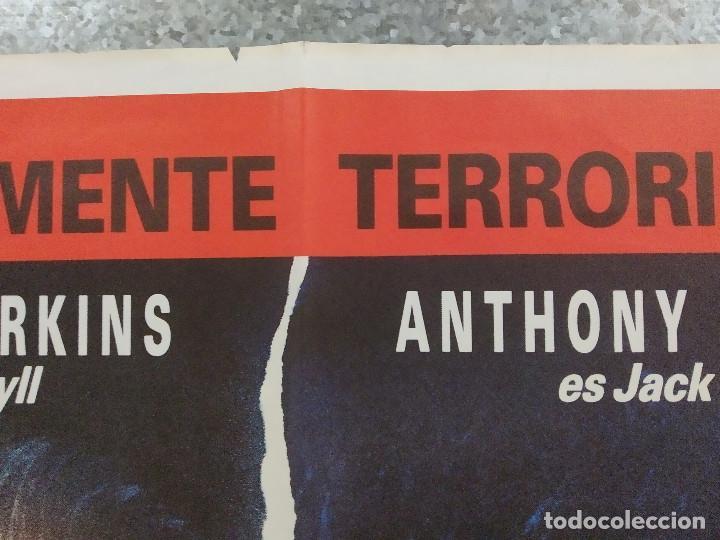 Cine: Al borde de la locura. Anthony Perkins, Glynis Barber AÑO 1988. POSTER ORIGINAL - Foto 3 - 213643815