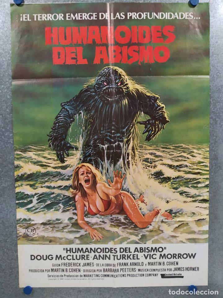 HUMANOIDES DEL ABISMO. DOUG MCCLURE, ANN TURKEL, VIC MORROW. AÑO 1980. POSTER ORIGINAL (Cine - Posters y Carteles - Terror)