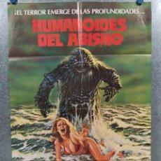 Cine: HUMANOIDES DEL ABISMO. DOUG MCCLURE, ANN TURKEL, VIC MORROW. AÑO 1980. POSTER ORIGINAL. Lote 213644495