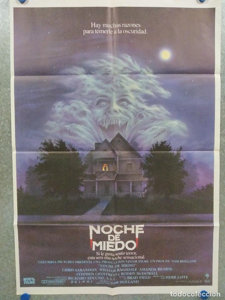 NOCHE DE MIEDO. CHRIS SARANDON, WILLIAM RAGSDALE, AMANDA BEARSE. AÑO 1985. POSTER ORIGINAL (Cine - Posters y Carteles - Terror)