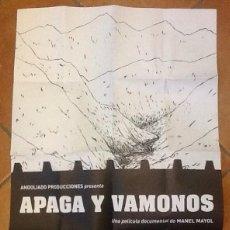 Cine: CARTEL DE APAGA Y VÁMONOS, PELÍCULA DE MANEL MAYOL. 68 X 46 CENTÍMETROS. Lote 213653523