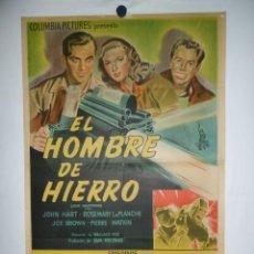 Cine: EL HOMBRE DE HIERRO - 1947 - 110 X 75 CM - LITOGRAFICO. Lote 213680983