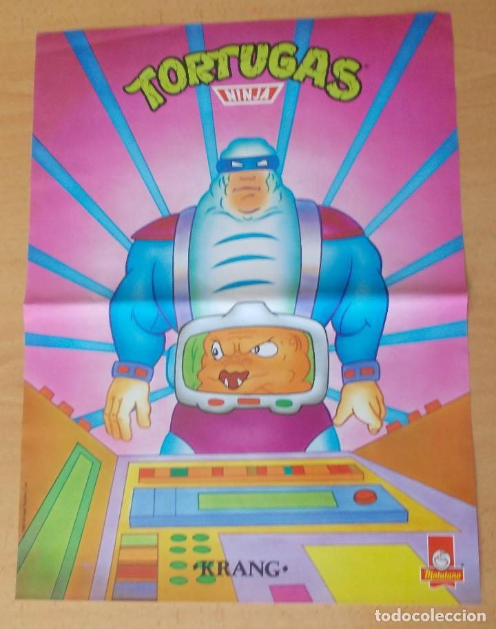 """POSTER """"LAS TORTUGAS NINJA"""" """"KRANG"""" MATUTANO 1990 N° 15 (Cine - Posters y Carteles - Acción)"""