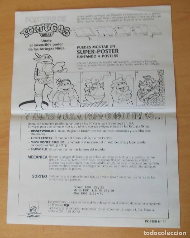 """Cine: Poster """"Las Tortugas Ninja"""" """"Krang"""" Matutano 1990 n° 15 - Foto 2 - 213692672"""
