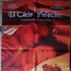 Cine: CARTEL ORIGINAL DE LA PELÍCULA EL CIELO PROTECTOR. DE BERNARDO BERTOLUCCI. MALKOVICH/WINGER. Lote 213703957