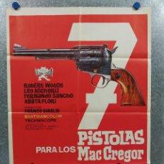 Cine: 7 SIETE PISTOLAS PARA LOS MACGREGOR. ROBERT WOODS, FERNANDO SANCHO, AGATA AÑO 1965 POSTER ORIGINAL. Lote 213714210