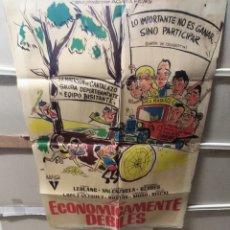 Cine: LOS ECONOMICAMENTE DEBILES TONY LEBLANC JANO POSTER ORIGINAL 70X100 YY (2358). Lote 213778700