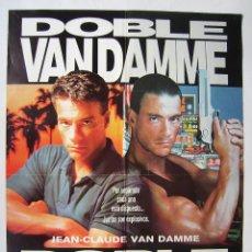 Cinéma: DOBLE IMPACTO, CON VAN DAMME. PÓSTER 69 X 96,5 CMS.. Lote 213824575