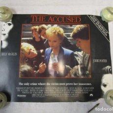 Cine: THE ACCUSED - KELLY MCGILLIS, JODIE FOSTER, PARAMOUNT - CARTEL CINE USA - 35X28CM CARTULINA + INFO. Lote 213965696
