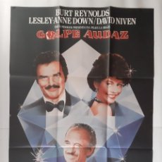 Cine: ANTIGUO CARTEL CINE GOLPE AUDAZ + 12 FOTOCROMOS 1980 CC-254. Lote 214097418