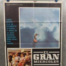 Cinéma: EL GRAN MIÉRCOLES. JAN-MICHAEL VINCENT, WILLIAM KATT, GARY BUS. SURF. AÑO 1978 POSTER ORIGINAL. Lote 214106177